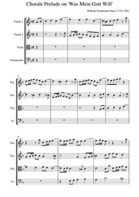 Choral Preludes, F.38 : Complete Score by Bach, Wilhelm Friedemann