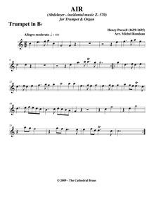 Abdelazer (The Moor's Revenge) : Trumpet... Volume Z.570 by Purcell, Henry