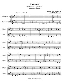 O magnum mysterium : Trumpet 1/2 by Byrd, William