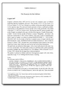 The Sources for the Edition by