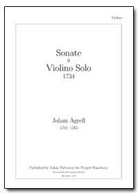 Sonate a Violino Solo 1734 by Agrell, Johan
