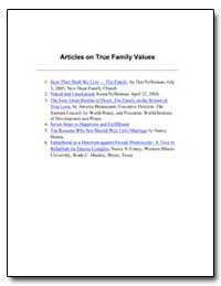 Articles on True Family Values How Then ... by Fefferman, Dan