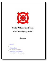 God's Will and the Ocean by Moon, Sun Myung, Rev.