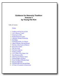 Guidance for Heavenly Tradition Volume 3 by Kim, Young Hwi