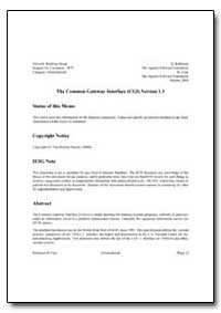 The Common Gateway Interface (Cgi) Versi... by Robinson, D.