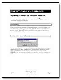 Credit Card Purchases by