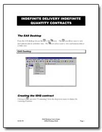 Indefinite Delivery Indefinite Quantity ... by