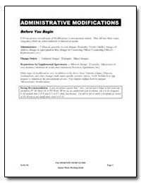 Administrative Modifications by