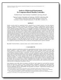 Analysis of Behavioral Requirements by Proctor, Frederick M.