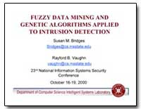 Fuzzy Data Mining and Genetic Algorithms... by Bridges, Susan M., Dr.