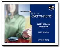 Wi-Fi Alliance Overview Nist Briefing by