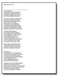 Selected Poetry by