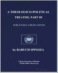 A Theologico-Political Treatise Part Iii by Spinoza, Baruch