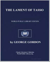 The Lament of Tasso by Byron, Lord