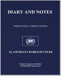 Diary and Notes by Cocke, Louisiana Barraud