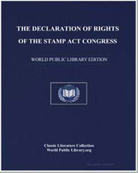 The Declaration of Rights of the Stamp A... by Stamp Act Congress