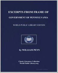 Excerpts from Frame of Government of Pen... by Penn, William