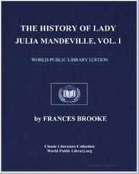 The History of Lady Julia Mandeville by Brooke, Frances