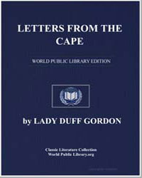 Letters from the Cape by Gordon, Lady Duff