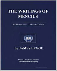 The Writings of Mencius by Legge, James
