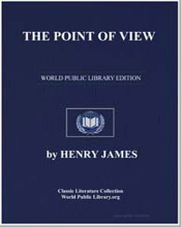 The Point of View by James, Henry