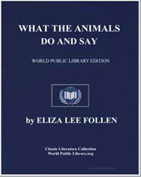 What the Animals Do and Say by Lee Follen, Eliza