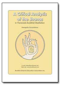 A Critical Analysis of the Jhanas by Gunaratana, Henepola