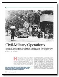 Civil-Military Operations Joint Doctrine... by Ham, Joel E.