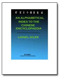 An Alphabetical Index to the Chinese Enc... by Giles, Lionel M. A.