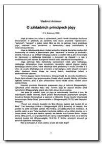 O Zakladnich Principech Jogy by Antonov, Vladimir, Ph. D.