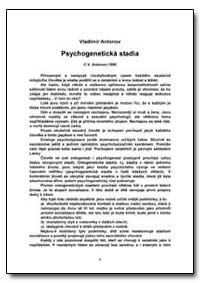 Psychogeneticka Stadia by Antonov, Vladimir, Ph. D.