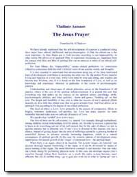 The Jesus Prayer by Shafeyev, Maxim