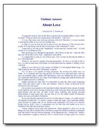 About Love by Antonov, Vladimir, Ph. D.