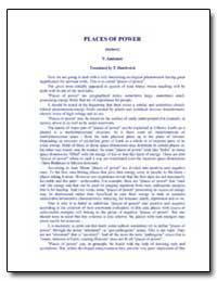 Places of Power by Antonov, Vladimir, Ph. D.