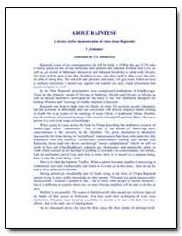 About Rajneesh by Antonov, Vladimir, Ph. D.
