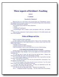 Three Aspects of Krishna's Teaching by Antonov, Vladimir, Ph. D.