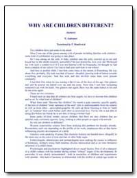Why Children Are Different by Antonov, Vladimir, Ph. D.