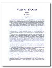 Work with Plants by Antonov, Vladimir, Ph. D.