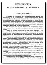 Declaracion en Fundamentos de la Religio... by Antonov, Vladimir, Ph. D.