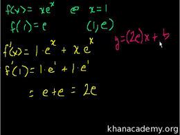 Product and quotient rules : Equation of... Volume Calculus series by Sal Khan