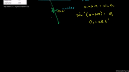 Waves and optics : Snell's Law Example 1 Volume Science & Economics series by Sal Khan
