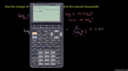 Logarithm properties : Change of Base Fo... Volume Algebra series by Sal Khan
