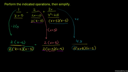 Rational expressions and equations : Add... Volume Algebra series by Sal Khan