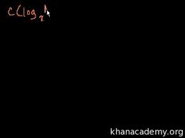 Logarithm properties : Proof: A(log B) =... Volume Algebra series by Sal Khan
