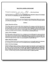 Master Labor Agreement between Richard V... by United Farm Workers of America, Afl-Cio