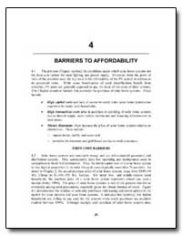 Barriers to Affordability by The World Bank