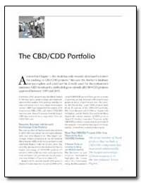 The Cbd/Cdd Portfolio by The World Bank