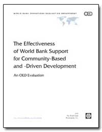 The Effectiveness of World Bank Support ... by The World Bank