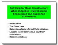 Self-Help for Road Construction : When I... by Winkelmann, Peter