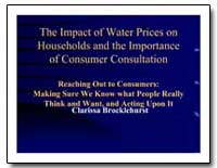 The Impact of Water Prices on Households... by The World Bank